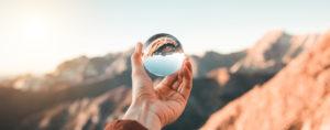 Kugel für Klarheit- erfolgreiche Veränderung